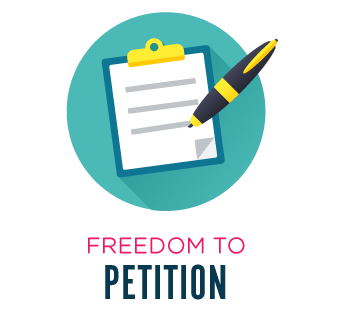 Freedom to petition.